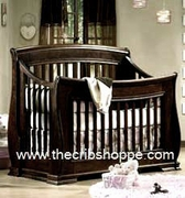 Hampton 2012 Convertible Crib - Java or white-