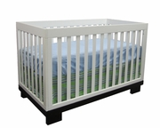 Metro convertible Crib - two toned - all white, all java or grey