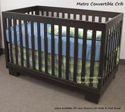 Metro Convertible Crib - all Java or all white  -