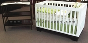 Metro crib and change table set - dual tone -