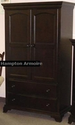 Hampton armoire java (with hanging bar inside)