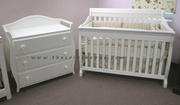 milano white crib with matching change table