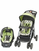 Evenflo Stroller / Travel system Aura Select - Unisex green bubbles -