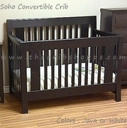 NEW! Soho Convertible crib  - Java or White -