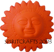 "SMALL SUN FACE MOLD (4.25"" DIA)"