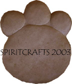"BIGFOOT PAW PRINT STEPPING STONE MOLD (13.5"" x 16"")"