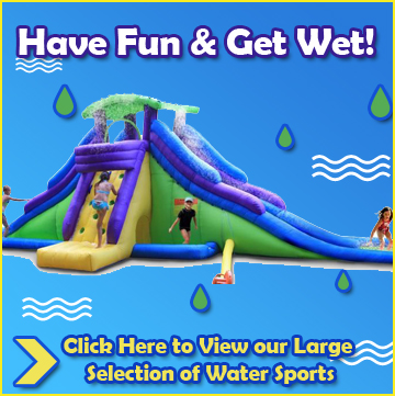 Water Slides, Water Trampolines and all Water Sports on Sale at QualityToys.com!