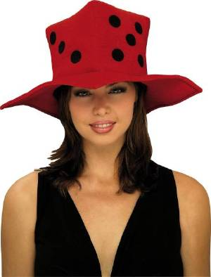 Plush Red Dice Hat  - Perfect for Bunco