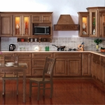 Square Ginger Kitchen Cabinets