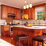 Mocha Maple Glaze Kitchen Cabinet