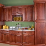 Hudson Crimson with Chocolate Glaze Kitchen Cabinet