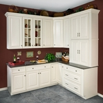 Hudson Antique White Painted Kitchen Cabinets