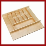 Trimmable Cutlery Tray - Wood - Maple-Natural