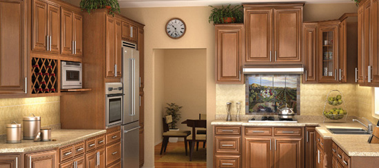 Chestnut Pillow Kitchen Cabinets