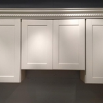 Pearl White Shaker Kitchen Cabinets