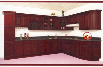 Overlay Cherry Kitchen Cabinets