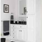 Danbury White Bathroom Cabinets