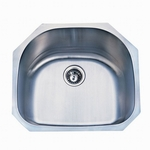 16 Gauge D-Bowl Sink