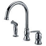 Single-Handle-Kitchen-Faucet-w/-Side-Spray