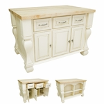 Antique White Kitchen Island-ISL01-AWH