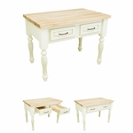 Small Antique White Kitchen Island-ISL03-AWH