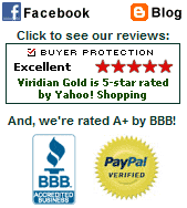 Viridian Gold is 5-Star Rated, BBB A+ and PayPal Certified