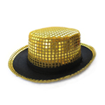 Gold Sequin Top Hat