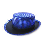 Blue Sequin Top Hat