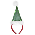 Green Sequin Santa Hat Headband