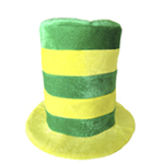 Yellow & Green Striped St. Patrick's Day Top Hat