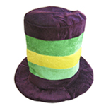 Mardi Gras Velvet Top Hat