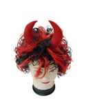 Red & Black Devil Wig
