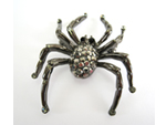 Black Widow Spider Rhinestone Pin