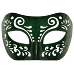 Dream Tale Green Venetian Masquerade Mask
