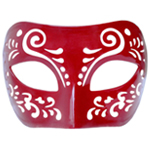 Dream Tale Burgundy Red Venetian Masquerade Mask