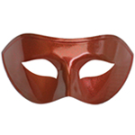 Red Venetian Masquerade Mask with Red Glitter