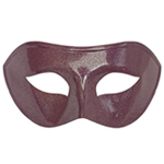 Purple Venetian Masquerade Mask with Silver Glitter