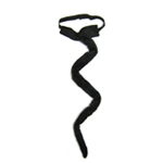 Long Black Plush Cat Tail Costume Accessory
