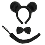 Mouse Ears, Tail, & Bow Tie Costume Set