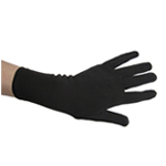 "10"" Stretchy Black Costume Gloves (Wrist Length)"