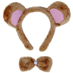 Bear Ears & Bow Tie Costume Set