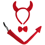 Devil Horns, Tail, & Bow Tie Costume Set