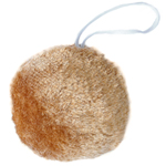 Round Brown Plush Animal Tail
