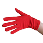 Stretchy Red Costume Gloves (Wrist Length)