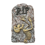 RIP 3-D Skeleton Tombstone Wall Decoration