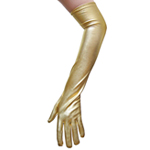 Gold Metallic Gloves