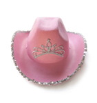 Pink Princess Cowboy Hat with Tiara
