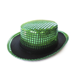Green Sequin Top Hat