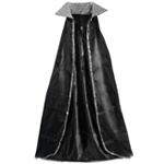 "52"" Silver Sequin Black Cape"
