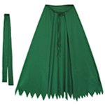 Child Green Superhero Cape Set